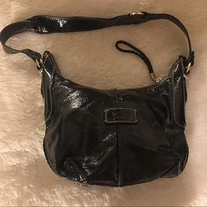The Sak Patent Leather Small Hobo Bag